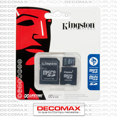 MEMORIA MICRO SD KINGSTON 16GB ORIGINALES P/CAMARA