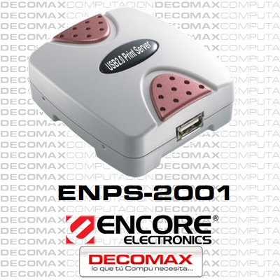 PRINT SERVER ENCORE ENPS-2001 1 PUERTO USB 2.0 BOX