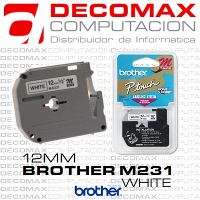 CINTA BROTHER M231 12MM 8M P-T80 M-231 M-K231 BOX