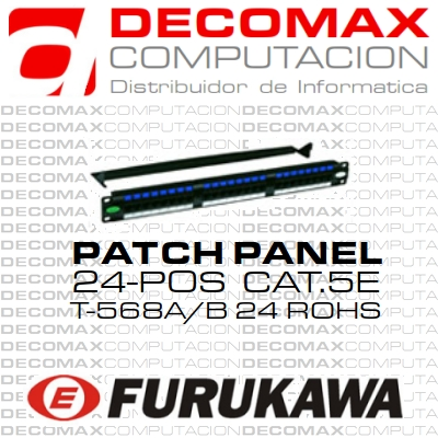 PATCH PANEL CAT5E FURUKAWA 24-POS MULTILAN PREMIUM