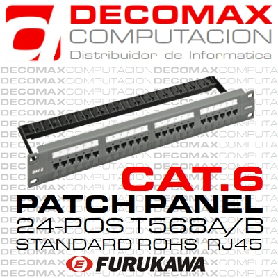 PATCH PANEL CAT.6 FURUKAWA 24-POS GIGALAN STND BOX