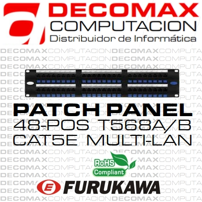 PATCH PANEL CAT5E FURUKAWA 48-POS MULTILAN PRM BOX