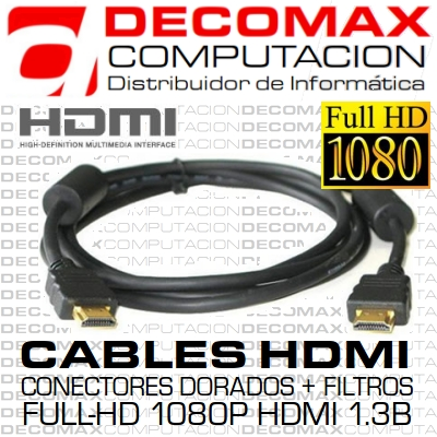 CABLE HDMI A HDMI 5.0MTS FULL-HD 1080P MACHO-MACHO