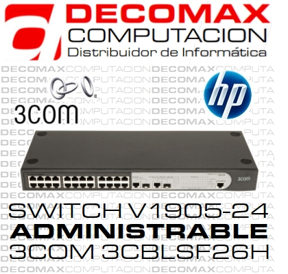 SWITCH HP 1910-24 JG538A 2-GIGA 2-SFP ADMIN JD990A