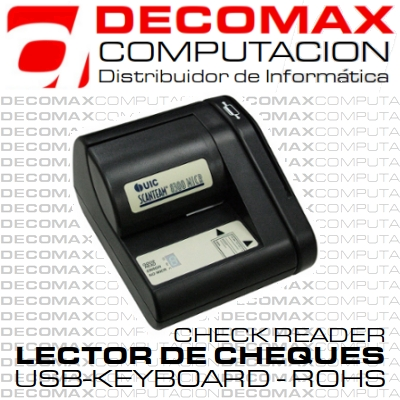 LECTOR DE CHEQUES UNIFORM UIC-8310-50KR USB KB BOX
