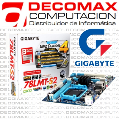 MOTHERBOARD GIGABYTE GA-78LMT-S2 760G DDR3 AM3 BOX