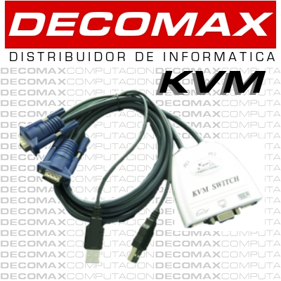 KVM KANJI KJKVM2USB 2-PORT USB VGA SWITCH C/CABLES