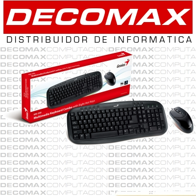 TECLADO MOUSE GENIUS KM-200 MULTIMEDIA USB BLK BOX