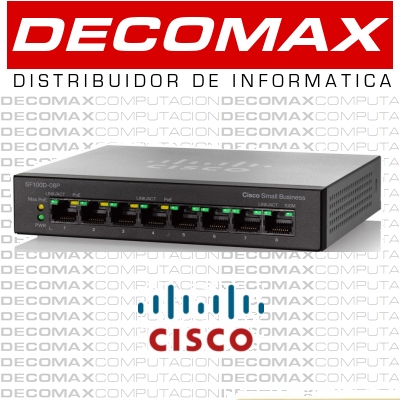 SWITCH CISCO SF100D-08P POE 8PORT 10/100 4-POE BOX