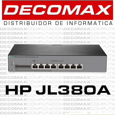 SWITCH HP 1920S-8G JL380A ADMIN 8P GIGA JG920A BOX
