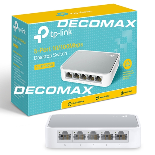 SWITCH TP-LINK TL-SF1005D 5-PORT 10/100MB RJ45 BOX